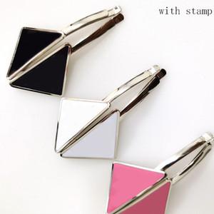 스탬프 여성 편지 삼각형 헤어핀 패션 쥬얼리 액세서리 높은 품질과 뜨거운 판매 삼각형 헤어 클립