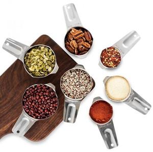 13 paquete de tazas de medir y cucharas de medición Conjunto líquido o seco Copa Conjunto inoxidable de las tazas y tazas de anidamiento de cocina para hornear Herramientas DHC189