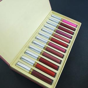 Nuovissimo 12pcs / set Liquid Liquid Lipstick 12 pezzi Collezione Lunga durata Rossetto Trucco Lip Gloss Set Gloss