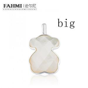 FAHMI 100% 925 Cristal Facettes Milky argent sterling exquis blanc Charm Ours pendentif original Femmes Simple 815114500 BIG