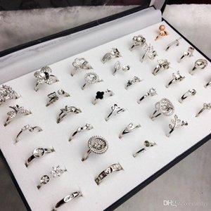 40 stili Pearl Ring Settings fai da te anello di regolazione moda gioielli di perle anello di cerimonia nuziale Anelli 925 anelli d'argento per la femmina regalo fai da te
