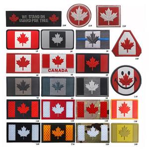 19VP-18 Toppe tattiche Full Canadian Flag con Stick Canada FLAG Riflettente esercito leggero Badge Toppe morali per borsello