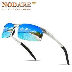 NODARE 2020 occhiali da sole di alluminio magnesio Telaio maschio Occhiali da sole Moda Guida Pesca Eyewear occhiali da sole Heren