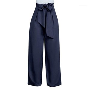 Leg pantaloni variopinti pantaloni allentati femminili morbidi primavera-estate delle donne pantaloni a gamba larga Moda Donna largo
