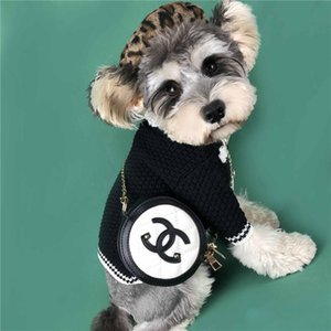 Elegante spalla dell'animale domestico di stile di modo del sacchetto Borsa a catena per Pet Dog Retro Borsello Teddy Bulldog Schnauzer Accessori