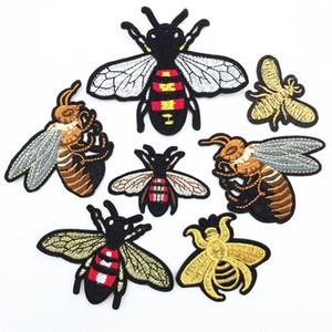 20pcs mucho diseño del arte del bordado de parches abeja Cosa hierro en divisa del remiendo de tela de la aplicación de bricolaje consumen