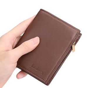Новый мужской кошелек корейской моды пакет карт на молнии мульти-карты кошелек ретро портмоне мужской клатч