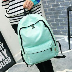 Fashion Backpack Women Backpack Solid Color Travel Casual School Bag For Teenage Girl New Bagpack Female Rucksack Knapsack 2019 T200602