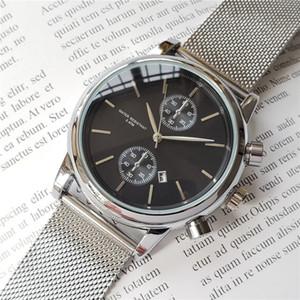 Relojes para hombre de alta calidad de primeras marcas Reloj Movimiento de cuarzo Boss Caja de acero inoxidable Día Fecha Diseñador Reloj barato a prueba de agua Reloj para hombre
