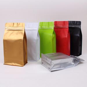 Bir Pound Coffee Bean Bag Toptan Alüminyum Folyo Kendinden tarz Kendinden sızdırmaz Kahve Çanta Mühürlü