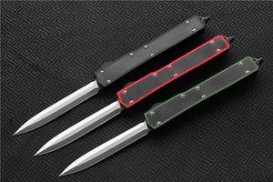 Envío gratis, Cuchillo táctico MIKER II D2 Doble filo Acabado en satén Hoja Fibra de carbono Mango Caza Cuchillos de supervivencia de bolsillo EDC