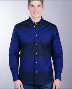 2019 Eden Park Nova Camisa de Manga longa Para Homens de Alta Qualidade Agradável Design de Negócios Estilo Casual Tecido de Algodão tamanho M L XL XXL XXXL Frete Grátis
