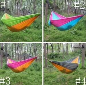 Hammock Parachute Double Lightweight Nylon Hammock Adult Camping Outdoor Travel Hammocks Survival Garden Swing Hunting Sleeping Bed ALSK74