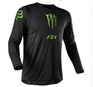 FOX 2020 new hot sale tide brand downhill suit outdoor riding long-sleeved T-shirt men's shirt mountain bike racing suit custom