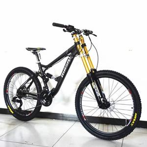 새로운 브랜드 다운 힐 산악 자전거 알루미늄 합금 프레임 오일 디스크 브레이크 소프트 테일 Bicicleta 야외 스포츠 MTB 자전거