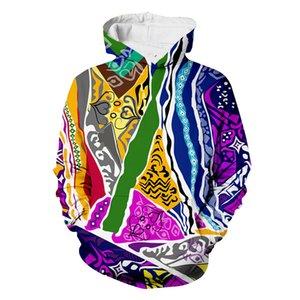 Coogie Hoodie 3D All Over Baskı Crewneck Kazak Hoodies Kazak Hipster Hoody Casual Streetwear Erkek Unisex Giyim