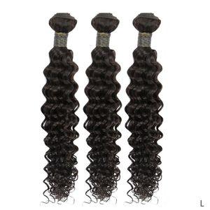 Profond brésilien bouclé cheveux Weave Bundles Remy cheveux humains 3 Bundles 100% réel Human Hair Extensions