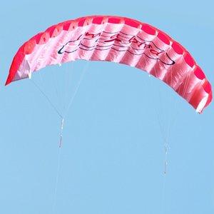 Kite Kitesurf doble Parafoil Stunt Línea de 1.4m suave Kite Surfing Deporte huge actividades al aire libre vuelo de la playa paracaídas Mlmdv