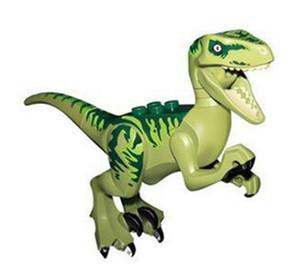 Mini figuras Jurassic Park Dinosaurio niños esquina producciones bloques Velociraptor Tyrannosaurus Rex Bloques de construcción Juegos Niños juguete Ladrillos regalo