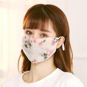 Lady Mode Masques visage en mousseline de soie Printemps Été Masques Masque réutilisable, lavable pour femmes élégantes crème solaire à vélo Masque DHB199