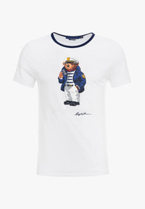 US size Polo Bear shirt men Martini Bear tshirt USA Short sleeve standard EU UK size shirts Hockey Bear Captain Navy Blue dropshipping