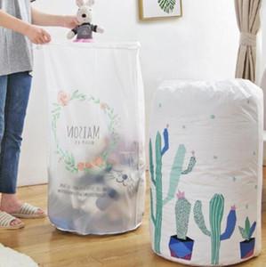Drawstring Bag portátil impermeável agrupados colcha de algodão Sacos grande capacidade de armazenamento Bag Dormitório lavandaria Bag Impressão Armazenamento Handbag PY155