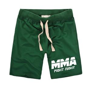Luta MMA impresso Shorts Men roupa da aptidão Pure seco Shorts Elastic do algodão Muay Thai Homens Belt rápida Sweatpants Masculino 2020