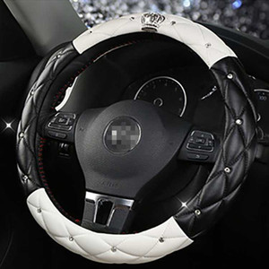 6 Color Car Steering Wheel Diamond Blingbling Auto Steering Wheel Cover Anti-Slip Universal Women Car-styling Accessories
