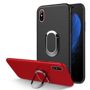 Sıcak Satış TPU Kılıf iphone X XR Araç Tutucu Standı Manyetik Emme Braketi Parmak Yüzük Kapak Yumuşak Telefon Kılıfı Için iPhoneX XR