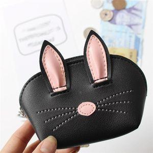 Rabbit Ears Портмоне клецка Тип Mulitcolor мультфильм брелок Прекрасная сумка для хранения Женщина благосклонности партии Горячей продажи 6mk E1