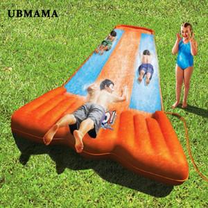 non olet 3 persona scivolo gonfiabile Outdoor grande resistenza all'usura tavole da surf prato inflat giocattolo per gli accessori per piscine bambino