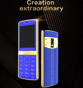 Venta caliente de lujo barra de cuero teléfono celular con doble SIM cámara bluetooth fresco cuerpo de metal desbloqueado teléfono metal mini deporte Super coche teléfono móvil