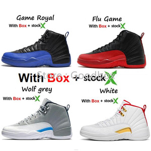 Nuovo stile 2019 12 Grigio Scuro 12s GS Hot Punch 2020 FIBA Reverse Gioco Reale 12 con la scatola di pallacanestro calza il trasporto libero degli uomini
