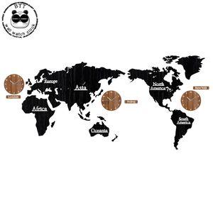 Wanduhr aus Holz Große Holz-Uhr Wanduhr Moderne European Style Big Clocks