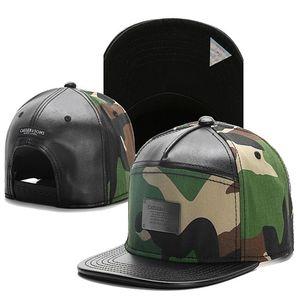 Cayler Sons pelle camo logo in metallo berretti da baseball di Hip Hop cappello esterno Gorras HipHop mens Bone Man regolabili Snapback Hats