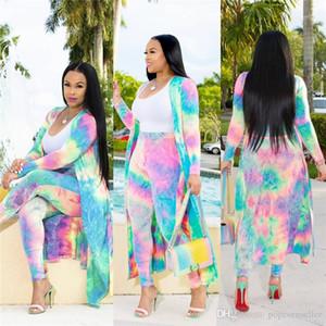 Langarm-3D-Printing Bekleidung Damen Breath Lässige Kleidung Frauen Designer-Sommer-Herbst Mäntel Mode loser Blumenanzug