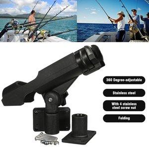 Pesca 1PCS Barra soporte sostenedor del soporte kayak Yate Equipos de pesca Herramienta giratoria de 360 grados con tornillos para Barco