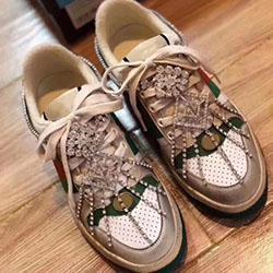 Gucci 2020 Freizeitschuhe Männer Frauen Art und Weise klassische echtes Leder Old Skool Neue Schuhe Fashion Sneakers Unisex 6 Farben 34-44 g0161