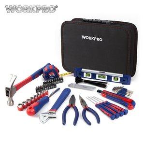 Herramienta del hogar WORKPRO 100PC cocina conjunto mecánico Kit de herramientas Alicates Destornilladores Llaves de sockets Cuchillo Martillo