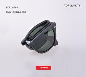 جديد أعلى جودة 54MM خمر مربع قابلة للطي نظارات شمس رجل إمرأة ريترو خمر النظارات الشمسية القيادة مصمم للطي UV400 4105 gafas 50MM