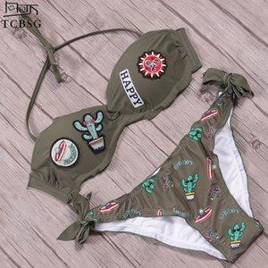 Tcbsg 2019 Neue Sexy Bikini Sommer Set Neckholder Bademode Frauen Badeanzug Weibliche Brasilianische Bikinis Badeanzüge Schwimmen Tragen Y19052001
