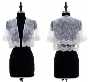 2020 Новый Белый Кот Свадебная куртка для женщин с короткими рукавами романтические кружева Болеро Жакеты Обертывания для вечера Формальные партии Bridal платье