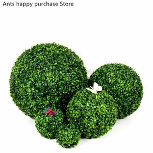 Simulazione di colore verde erba palla giardino ornamento parco falso erba all'aperto palla hotel centro commerciale di nozze decorazione del soffitto pianta verde