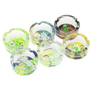 Cendrier en verre de cristal blanc de haute qualité de cadeau promotionnel créatif de dessin animé