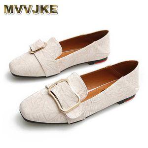 MVVJKE grande taille mocassins flats pieds carrés mules serpent pantoufles femmes automne printemps sandales 10 chaussures bon marché Chine métal