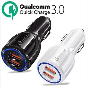 QC3. 0 быстрое зарядное устройство 12V 9V 5V Quick Charger автомобильное зарядное устройство Dual USB Fast Charging Adapter 3.1 A Qualcomm для iPhone 11 Samsung S20 Huawei P40
