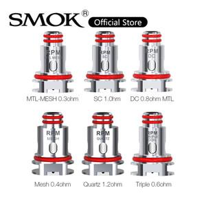 RPM40 키트 100 % 원본에 대한 SMOK RPM40 코일 0.4ohm RPM 메쉬 0.6ohm RPM 배 DC 코일 1.2ohm 석영 1.0ohm SC 교체 RPM 코일