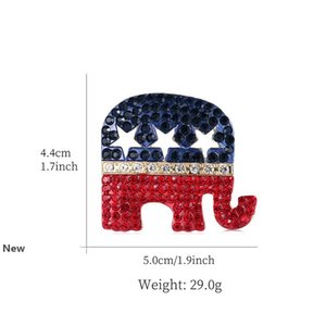 Trump Broche Pins 6 Styles de Shining Lettre strass Glitter Femmes Mode Cristal Broches coeur Pins Party Favor CCA12225 60pcs