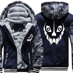 US Size Mens Camouflage Coat for Game Undertale Sans Papyrus Battle Fatigues Jacket Thicken Hoodie Hip Hop Sweatshirts