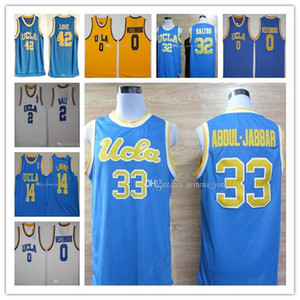UCLA Bruins College Basketball Jersey Russell Westbrook Lonzo Ball Zach Lavine Reggie Miller Bill Walton Kevin Love Kareem Abdul Jabbar cosido